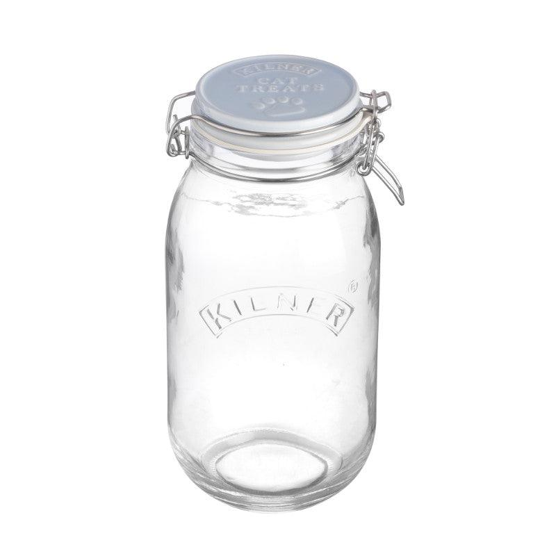 Kilner 2 Litre Round Ceramic Clip Top Cat Food Jar