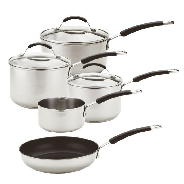 74003 Meyer Induction 5 Piece Stainless Steel Pan Set