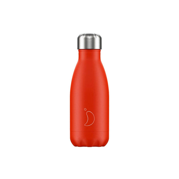 Chilly's 260ml Neon Drinks Bottle - Red