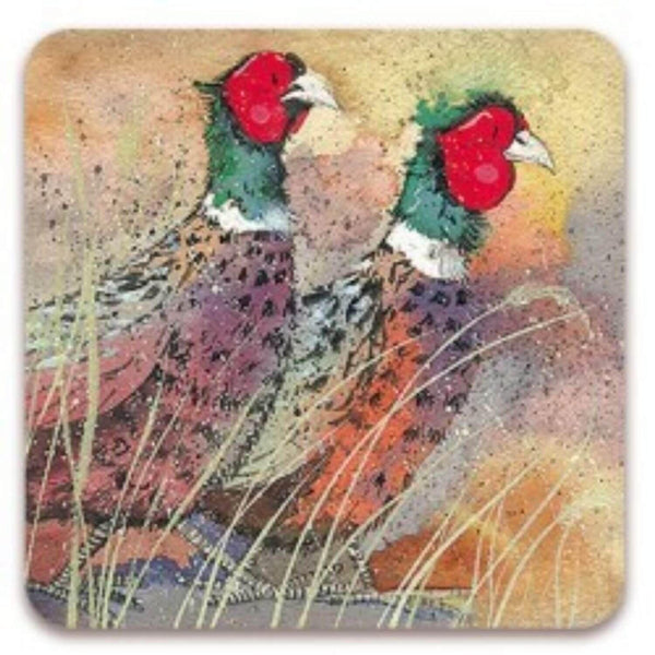 Alex Clark Coaster - Pleasant Pheasants