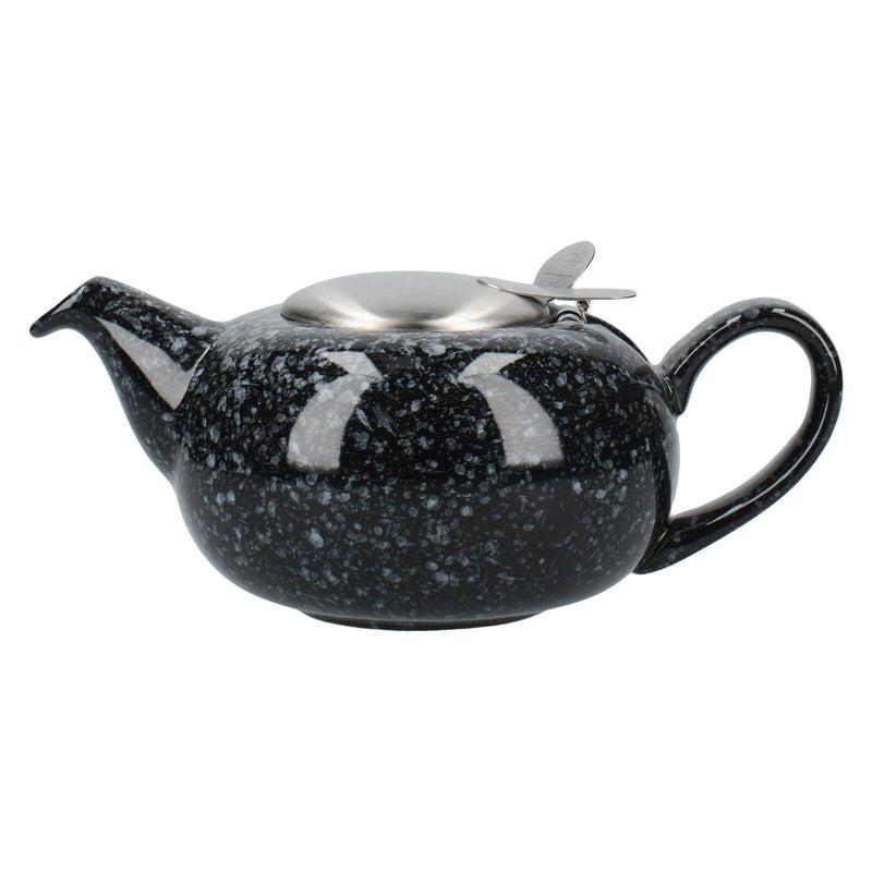 London Pottery Pebble Filter 2 Cup Teapot - Gloss Black