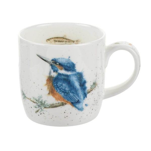 Royal Worcester Wrendale China Mug - King Of The River Kingfisher