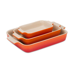 Le Creuset Heritage Stoneware Oven Dish Set - Volcanic