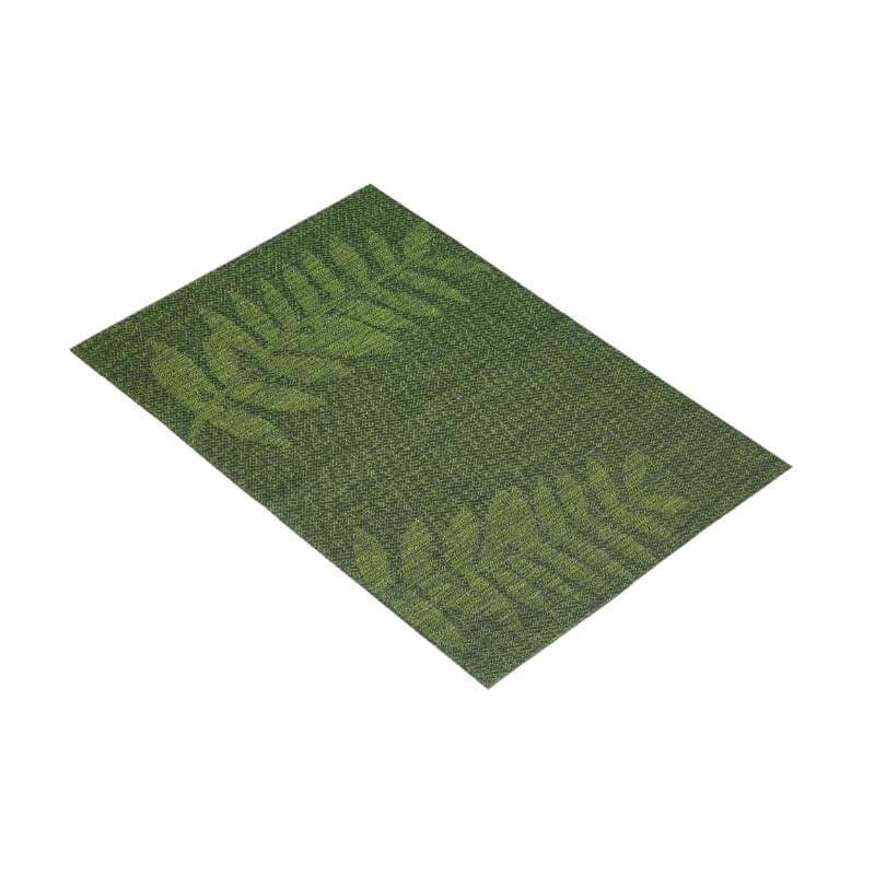 KitchenCraft Woven Placemat - Green Leaf Mix