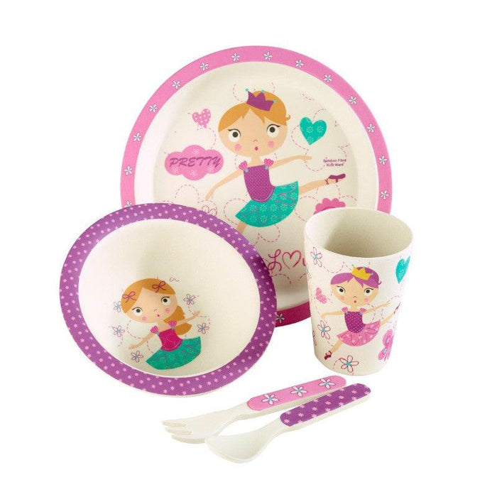 ZBAM0004 Arthur Price Bambino Ballerina 5 Piece Childrens Dining Set - Main