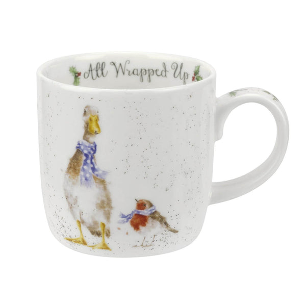 Royal Worcester Wrendale China Mug - Goose All Wrapped Up