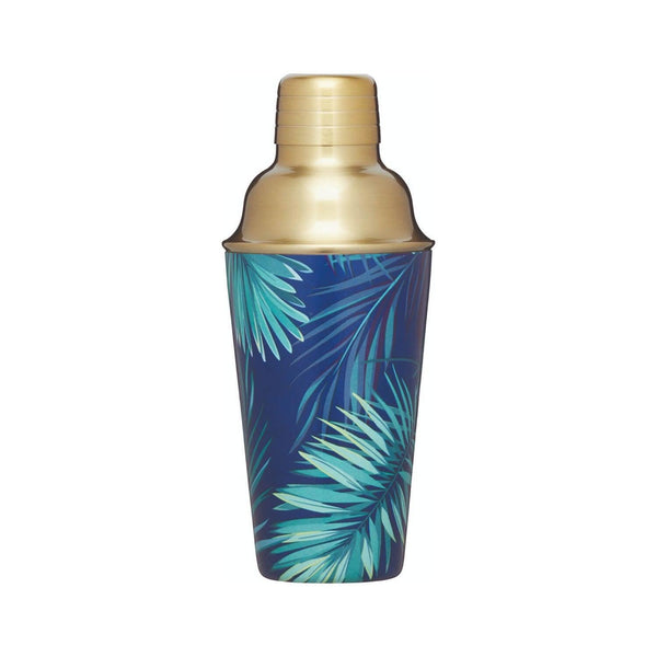 BarCraft Tropical Leaves Cocktail Shaker - Brass