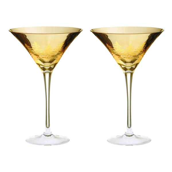 Artland Alpine Martini Glasses Gold - Set of 2