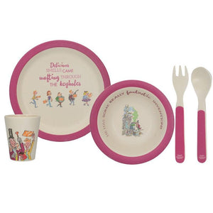 5233396 Charlie And The Chocolate Factory 4 Piece Bamboo Dinner Set