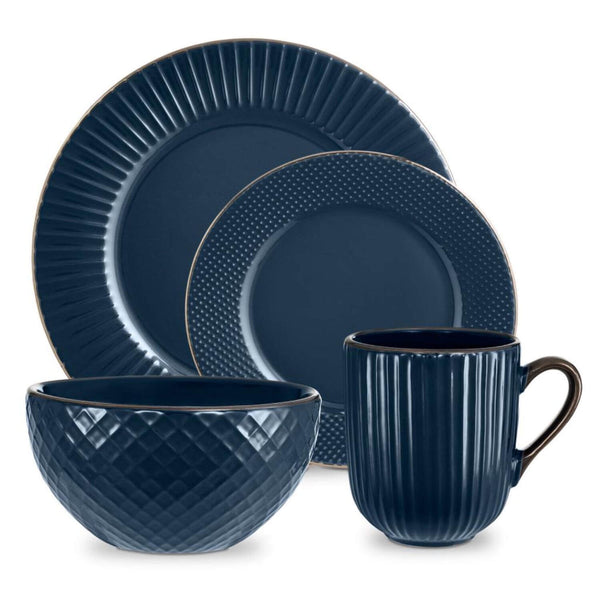 Tower Empire 16 Piece Dinner Set - Midnight Blue