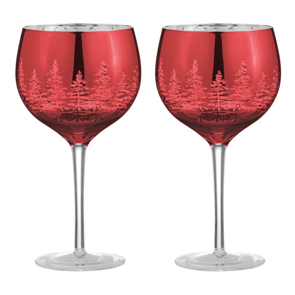 Artland Alpine Gin Glasses Red - Set of 2