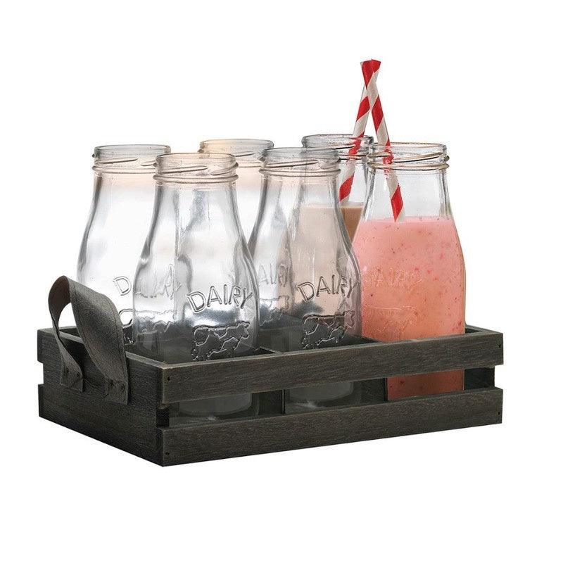 Eddingtons Milk Bottle & Crate 13 Piece Set