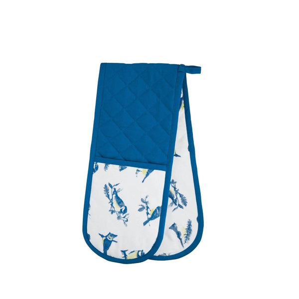 KitchenCraft Double Oven Glove - Blue Bird