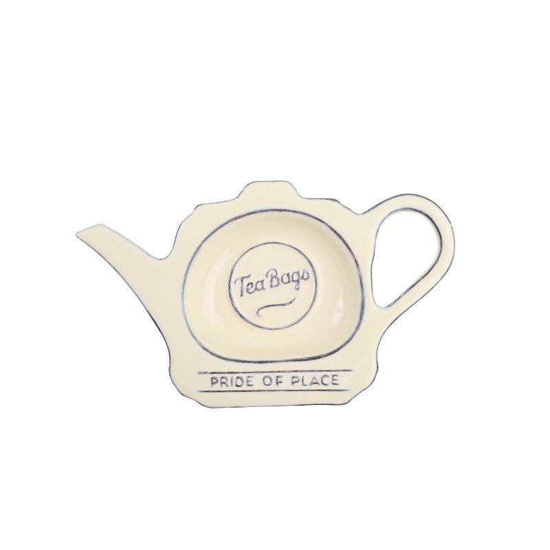 Pride of Place Vintage Tea Bag Tidy - Cream