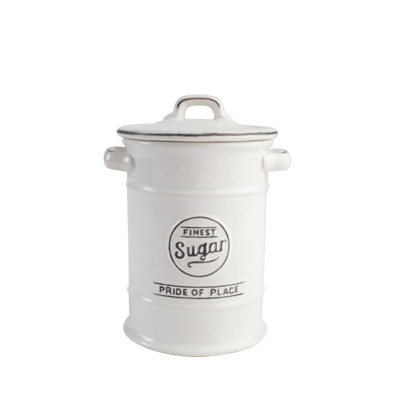 Pride of Place Vintage Sugar Jar - White