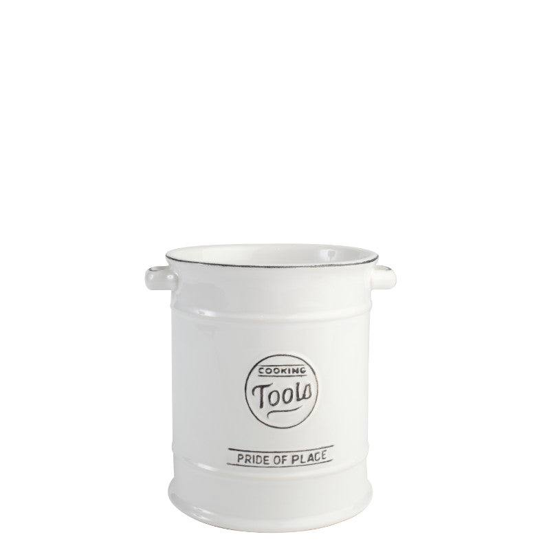 Pride of Place Vintage Utensil Pot - White