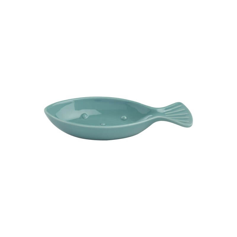 T&G Ocean Fish Ceramic Spoon Rest - Blue