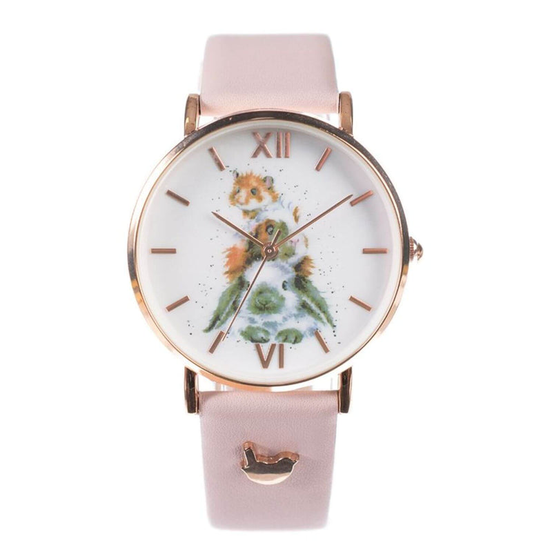 Wrendale Designs Leather Watch - Piggy In The Middle