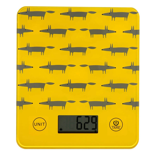 Scion Living Mr Fox Electronic Kitchen Scales - Yellow