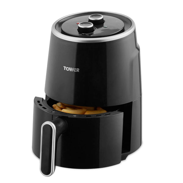 Tower T17066BLK Vortx 1.8 Litre Manual Compact Air Fryer - Black