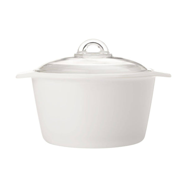 Maxwell & Williams Vitromax 5 Litre Round Casserole - White