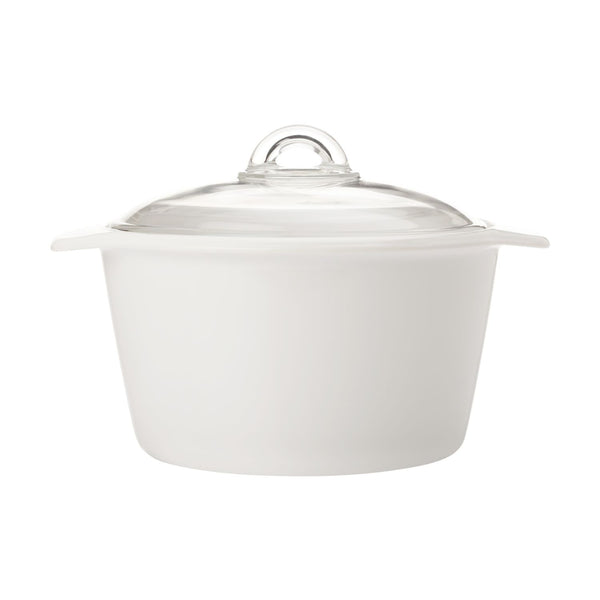 Maxwell & Williams Vitromax White Round Casserole - 5 Litre