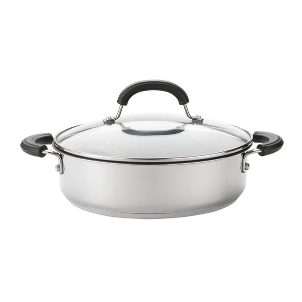 Circulon Total Stainless Steel Shallow Casserole - 24cm