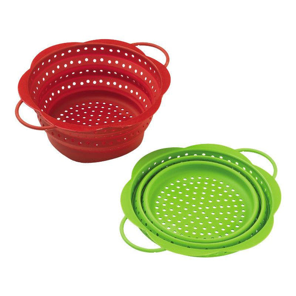 Kuhn Rikon Collapsible Large Colander - Red