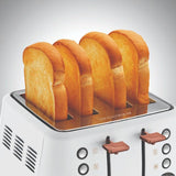 Morphy Richards Evoke Rose Gold Toaster - White - Pop Up