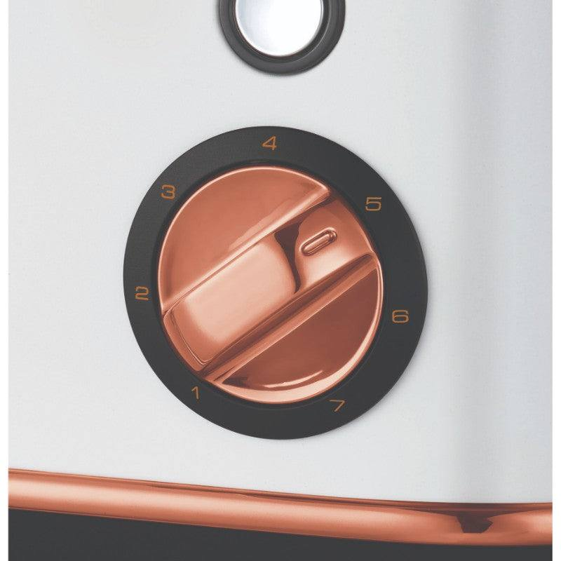 Morphy Richards Evoke Rose Gold Toaster - White - Browning Control