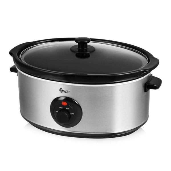 Swan Stainless Steel Slow Cooker - 6.5 Litre