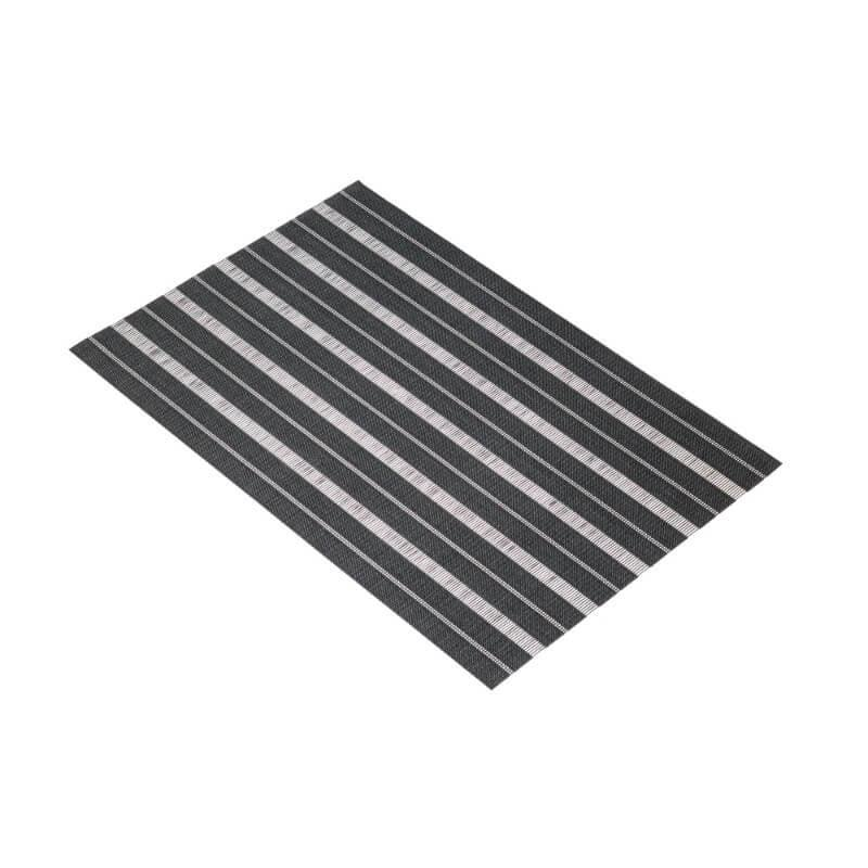 KitchenCraft Woven Placemat - Black Stripe