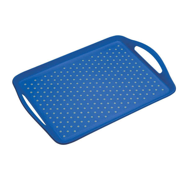 Colourworks Anti-Slip Serving Tray - Blue