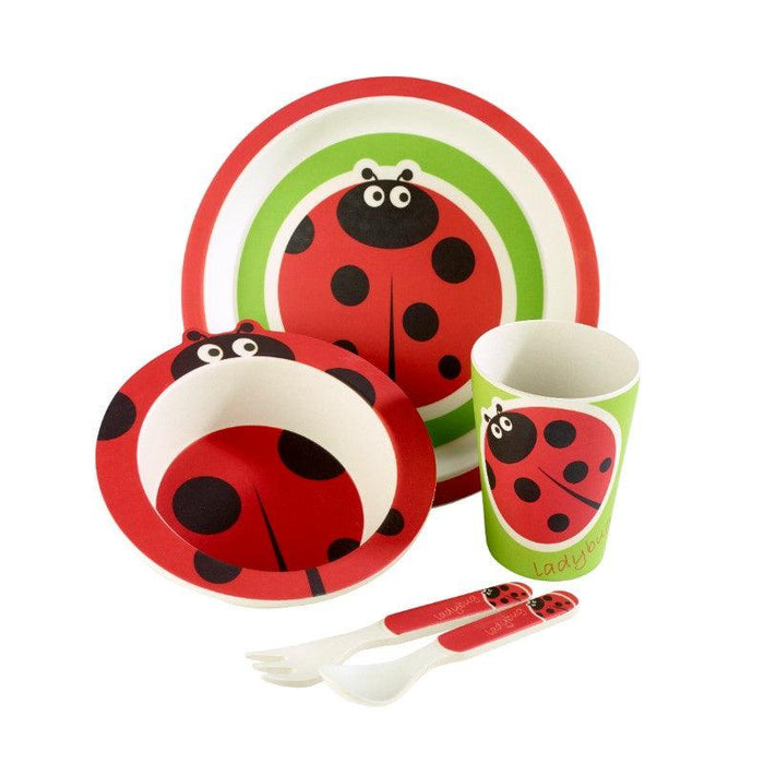 Arthur Price Bambino Ladybird 5 Piece Childrens Dining Set
