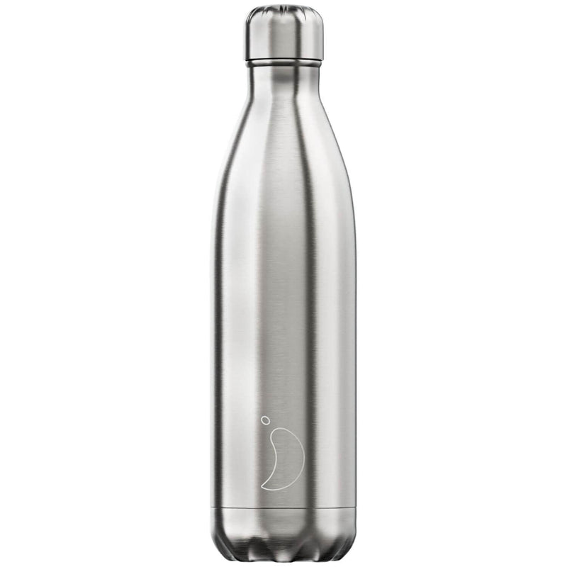 Chilly's 750ml Stainless Steel Drinks Bottle - Silver