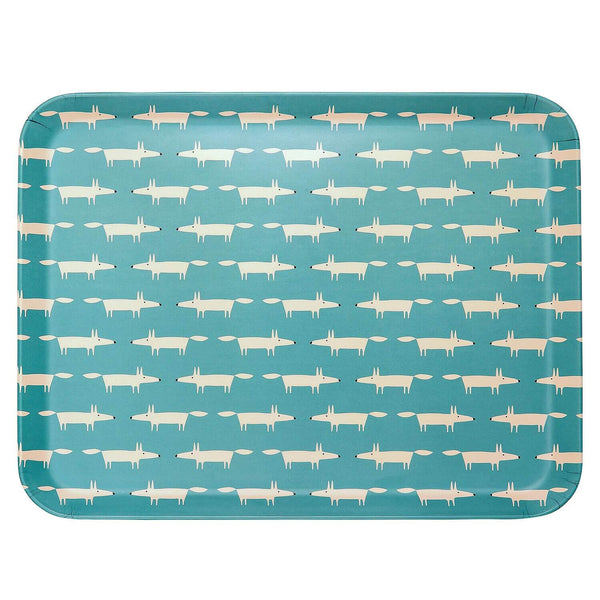Scion Living Mr Fox Bamboo Tray - Teal