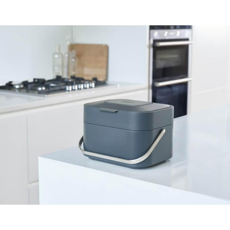Joseph Joseph Stack 4 Food Waste Caddy - Graphite