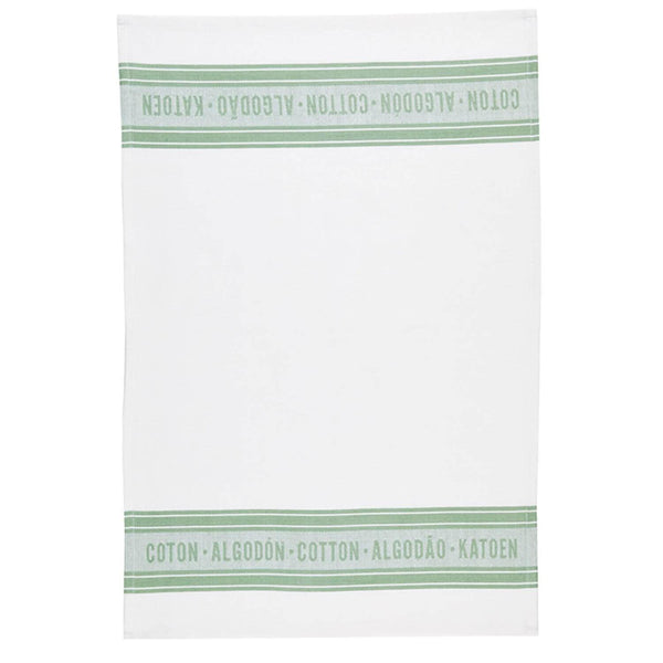 KitchenCraft Tea Towel Set - Jacquard Green