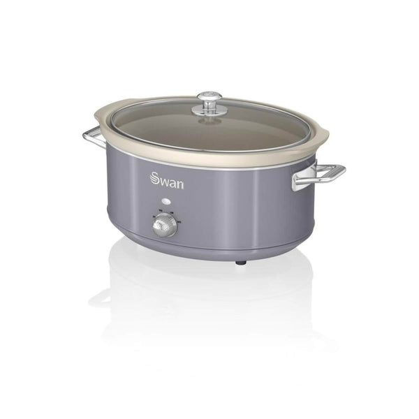 Swan Retro Grey Slow Cooker - 6.5 Litre