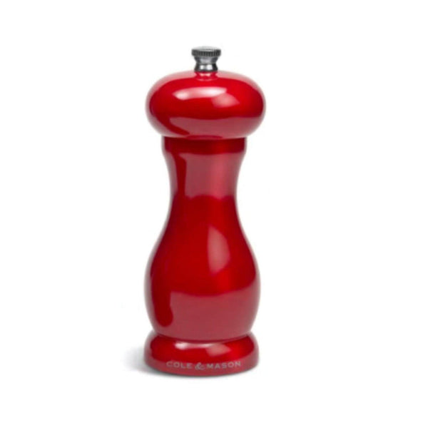 Cole & Mason Oxford Salt Mill - Red Gloss