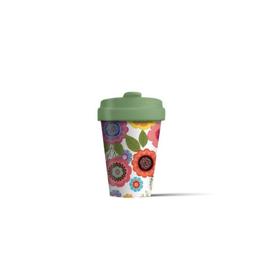 BambooCup 'Flower Power' Travel Mug - 400ml