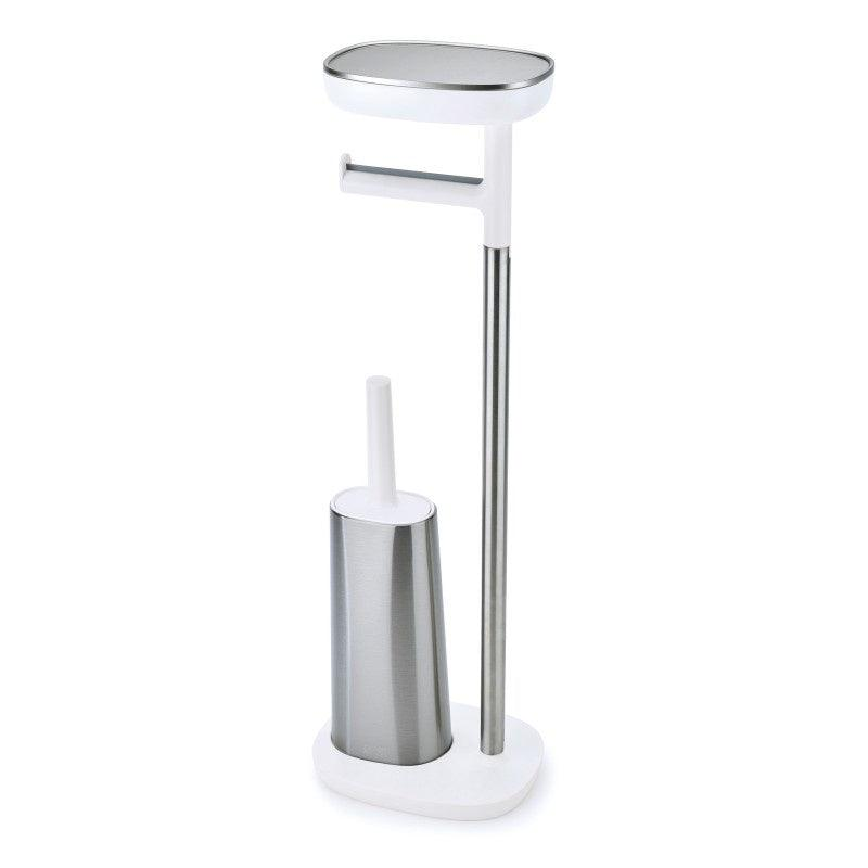 70519 Joseph Joseph EasyStore Plus Standing Steel Toilet Paper Holder - Main
