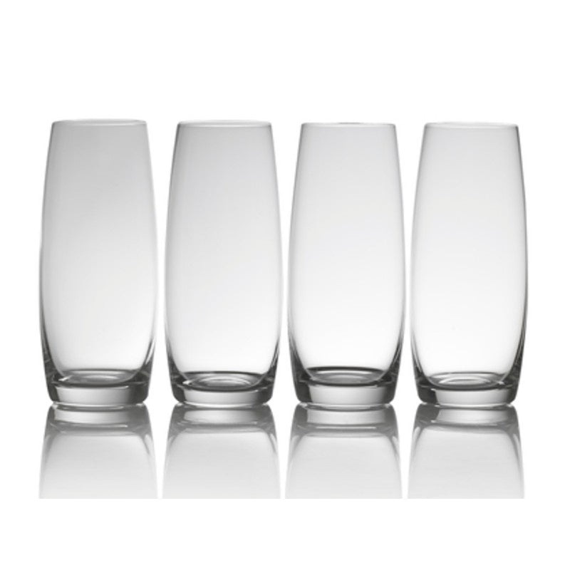 5233526 Mikasa Julie Set of 4 Stemless Flute Glasses