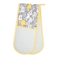 KitchenCraft Double Oven Glove - Yellow Sheep