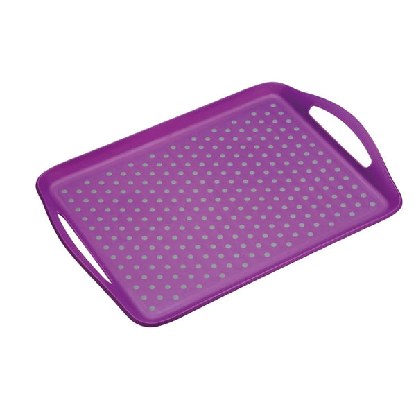 Colourworks Anti-Slip Serving Tray - Purple