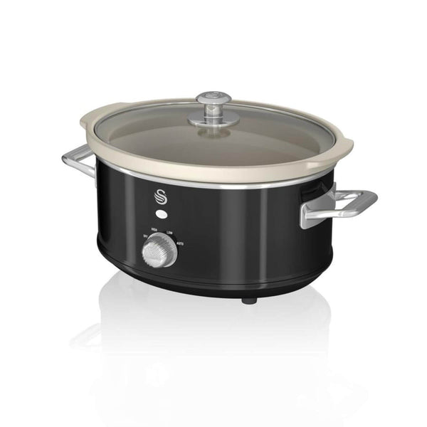 Swan Retro Black Slow Cooker - 3.5 Litre