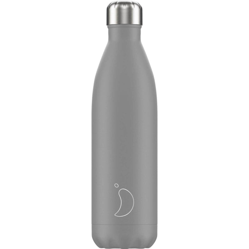 Chilly's 750ml Monochrome Drinks Bottle - Cool Grey