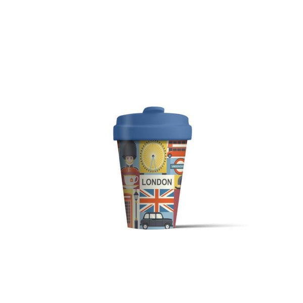 BambooCup 'London Sights' Travel Mug - 400ml