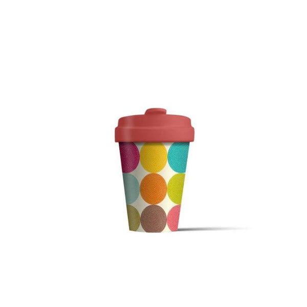 BambooCup 'Bright Circles' Travel Mug - 400ml