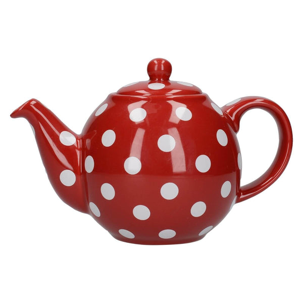 London Pottery Globe Red With White Spots Teapot - 2 Cup